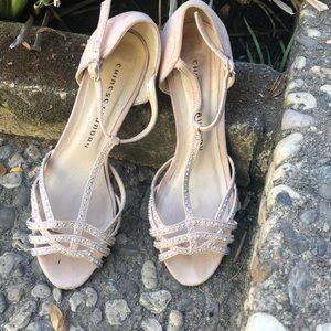 Beige Jeweled Chinese Laundry sz 7 heels 🤩